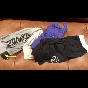 Lot of 3 authentic Zumba pants